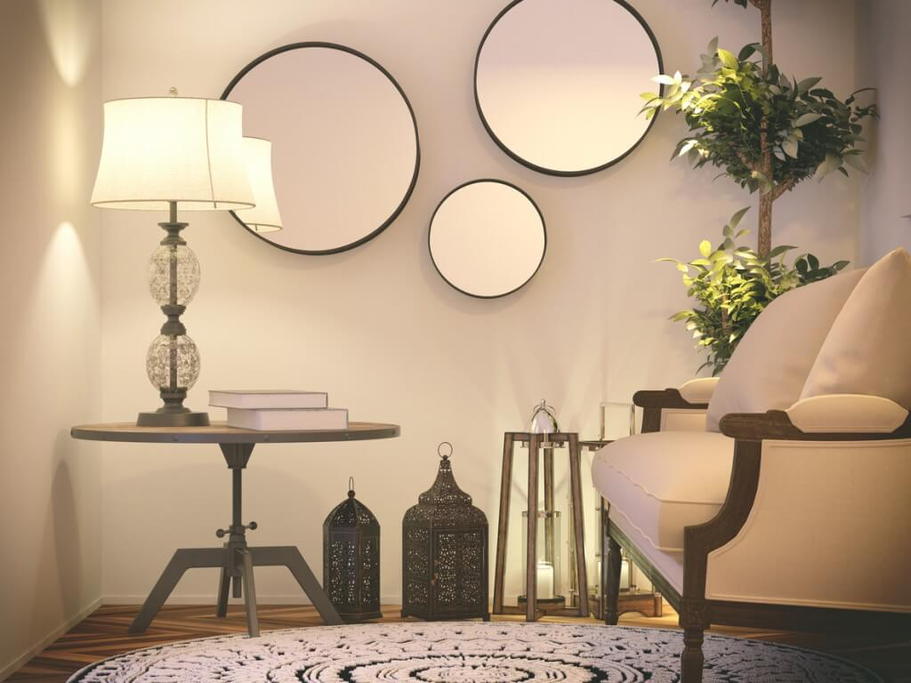 A shoot of vintage interior. Render image.