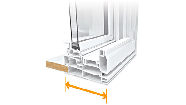 "Beverley Hills double hung windows feature a 4-1/2"" fusion-welded frame."