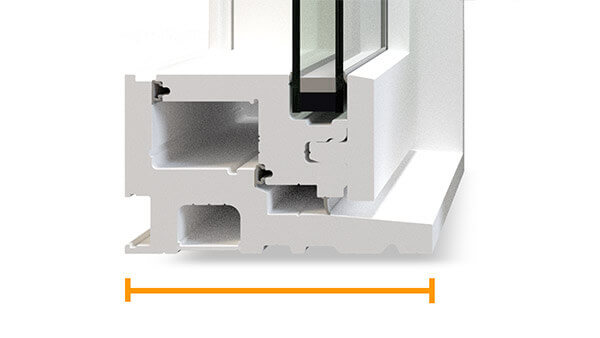 "Beverley Hills fixed windows feature a 4-1/2"" fusion-welded frame."