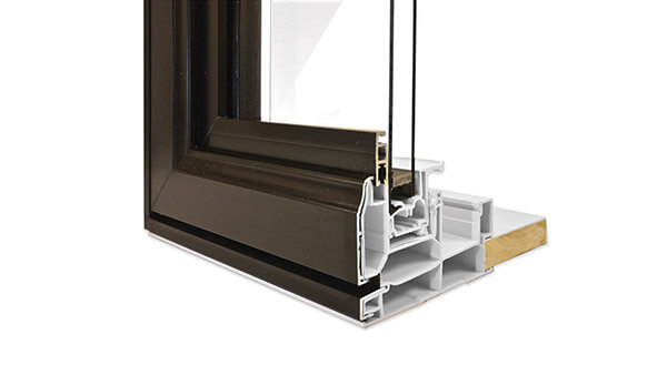 Beverley Hills double hung windows feature durable standard colours with hybrid aluminium-PVC construction.