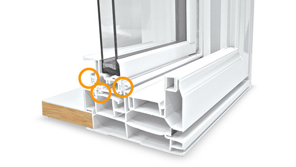 Beverley Hills double hung windows feature multiple weather seals.