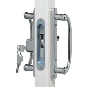 Bright Chrome Patio Door Hardware