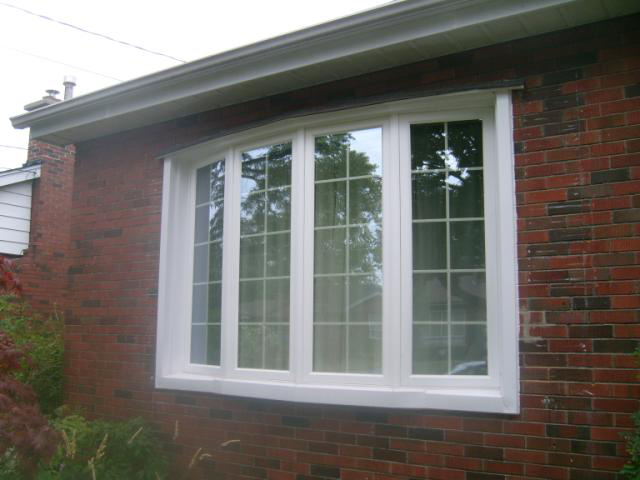 A house with a bay window installed