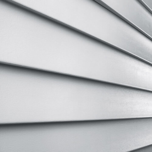 Aluminum siding close up on a house