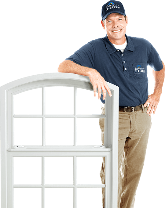 An image of a Beverley Hills Window Installer leaning on a casement window.
