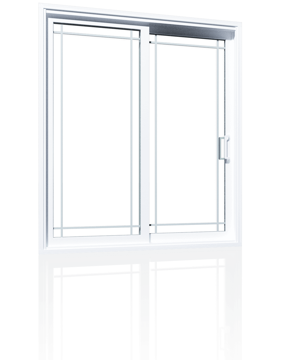 Exceptionnel Modern, White Front Door With Half Glass Inserts And Double Transoms