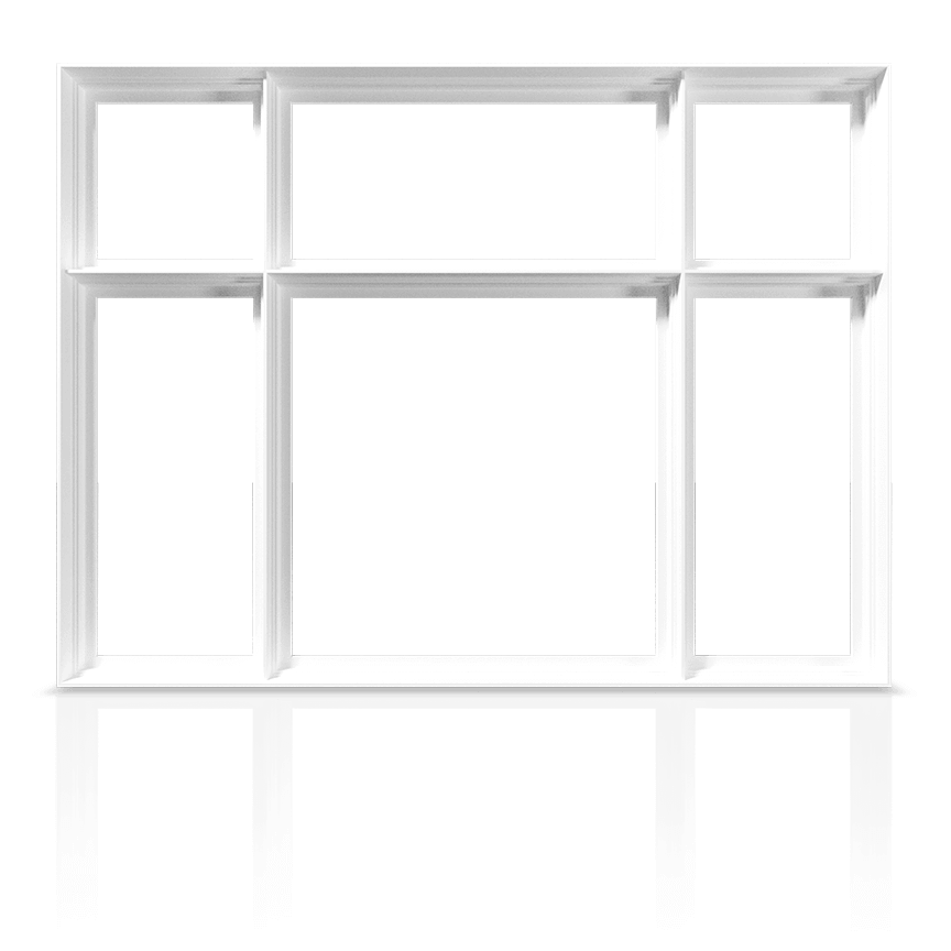 An example of a RevoCell Window showing the frame and mullions only.
