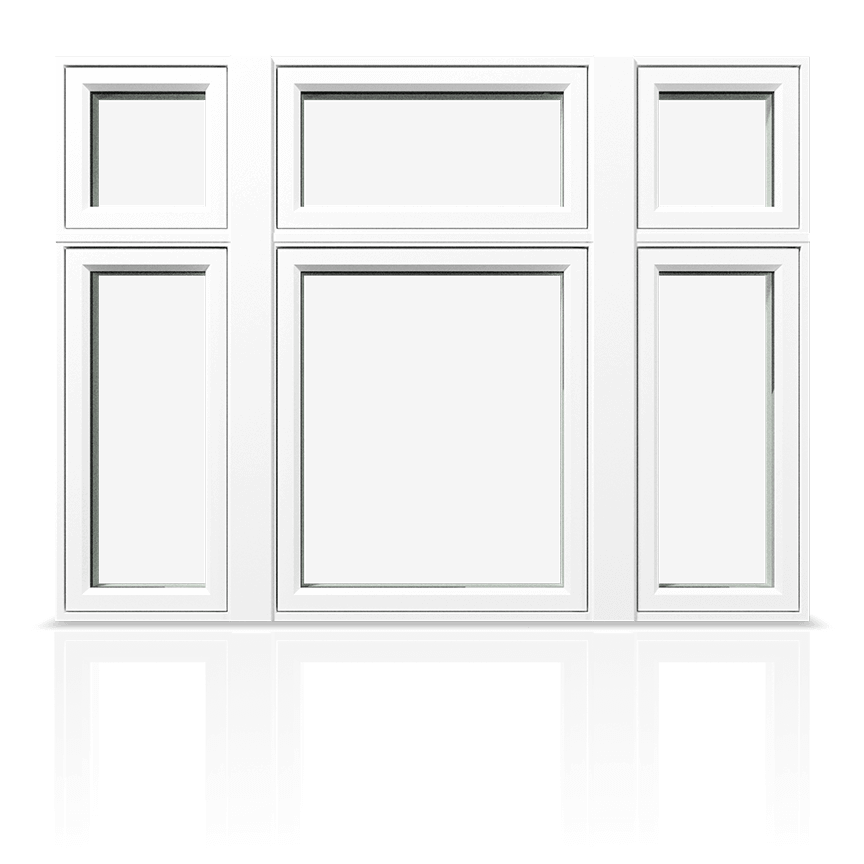 An example of a standard hollow-chamber PVC Window.