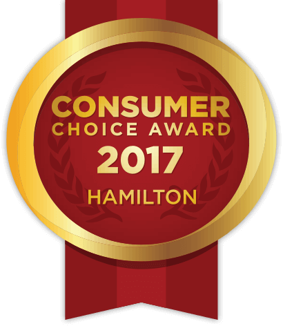 2017 Consumer Choice Award for Hamilton, Ontario