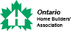 The Ontario Home Builder's Association logo signifying Beverley Hills Windows and Doors participation