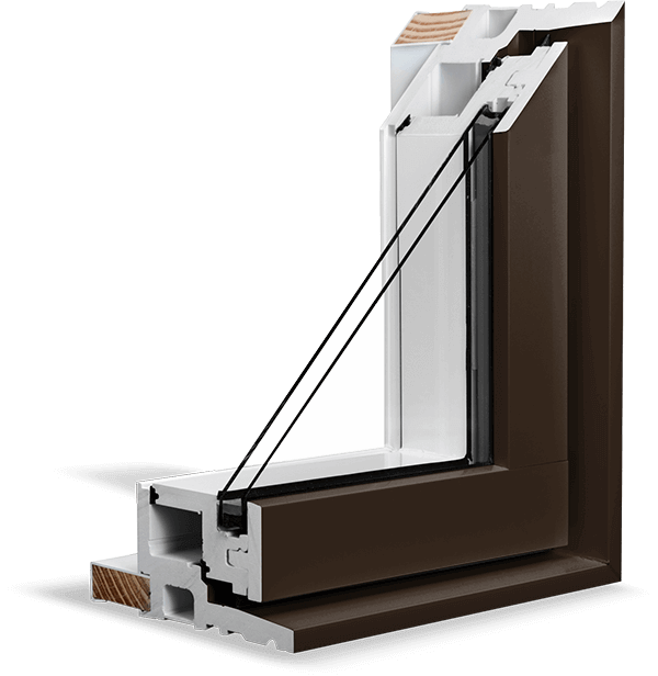 A Commercial Brown RevoCell® Window Section.