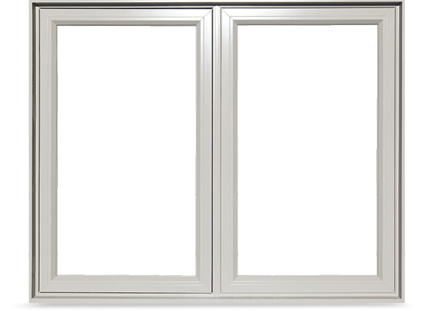 A Traditional PVC casement window which contains a thicker frame resulting in less glass